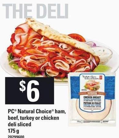 PC Natural Choice Ham - Beef - Turkey Or Chicken - 175 g