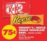 Hershey's or Nestlé Single Chocolate Bars - 32-58 g