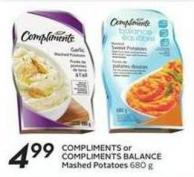 Compliments or Compliments Balance Mashed Potatoes