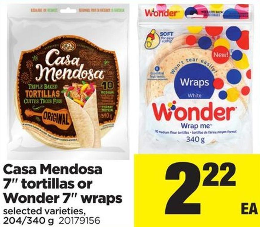 Casa Mendosa - 7in Tortillas Or Wonder - 7in Wraps - 204/340 g