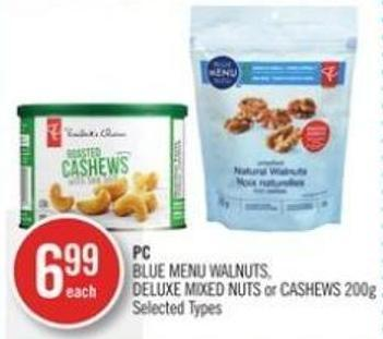 PC Blue Menu Walnuts - Deluxe Mixed Nuts or Cashews