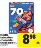 Nestlé Favourites Chocolate - Snack Size - 70's