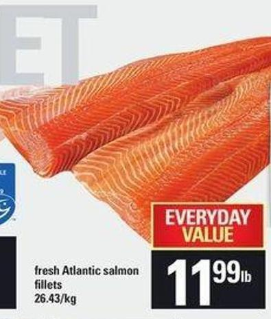 Fresh Atlantic Salmon Fillets