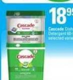 Cascade Dishwasher Detergent - 60-90 Ct