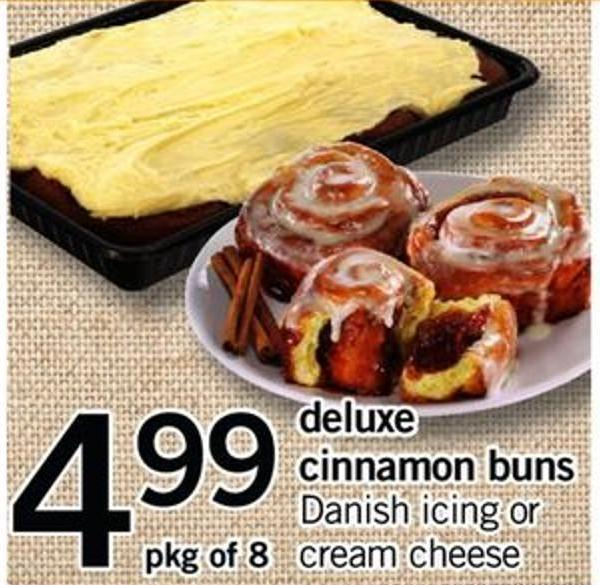 Deluxe Cinnamon Buns - Pkg of 8
