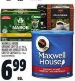 Maxwell House Ground Coffee 631 - 925 G - Nabob Or Irresistibles Coffee Capsules 8 - 14 Un.