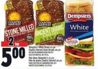 Dempster's White Bread 675 G Or Country Harvest Grain Breads 600 G Or Hot Dog Or Hamburger Buns Pkg Of 8