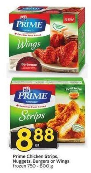 Prime Chicken Strips - Nuggets - Burgers or Wings