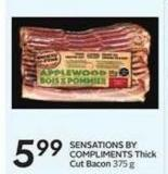 Sensations By Compliments Thick Cut Bacon 375 g