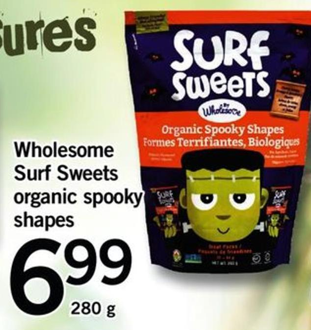 Wholesome Surf Sweets Organic Spooky Shapes - 280 G