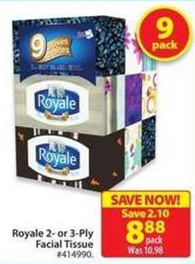 Royale 2- or 3-ply Facial Tissue