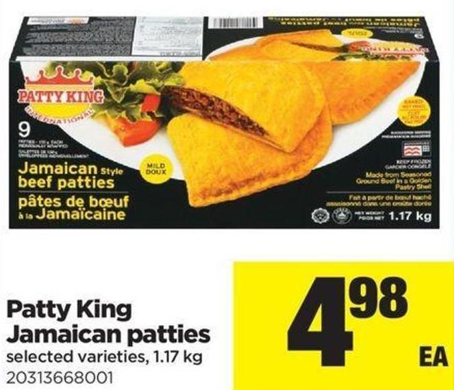 Patty King Jamaican Patties - 1.17 Kg