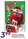 M&m's Holiday Pouches