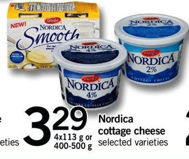 Nordica Cottage Cheese - 4x113 G Or 400-500 G
