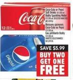Coca-cola Or Pepsi Soft Drinks 12 X 355 ml