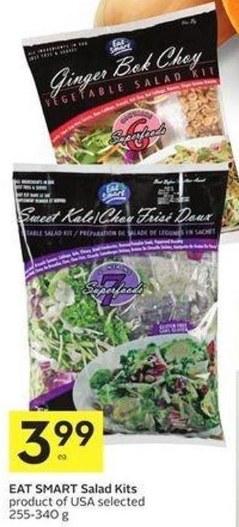 Eat Smart Salad Kits Product of USA Selected 255-340 g