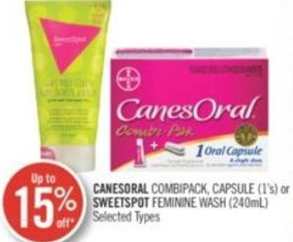 Canesoral Combipack - Capsule (1's) or Sweetspot Feminine Wash (240ml)