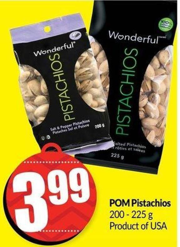 POM Pistachios 200 - 225g Product of USA