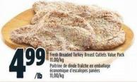 Fresh Breaded Turkey Breast Cutlets Value Pack