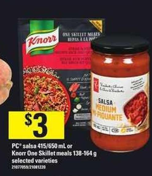 PC Salsa - 415/650 Ml Or Knorr One Skillet Meals - 138-164 G