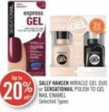 Sally Hansen Miracle Gel Duo or Sensationail Polish To Gel Nail Enamel