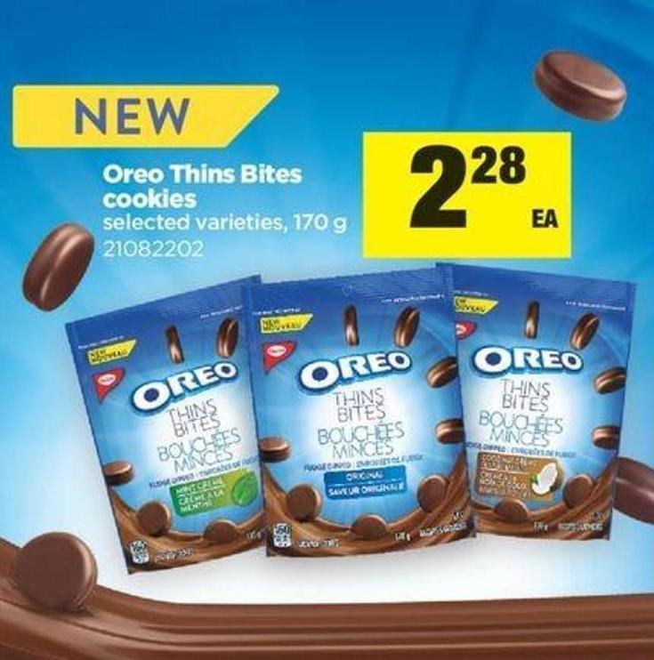 Oreo Thins Bites Cookies - 170 G