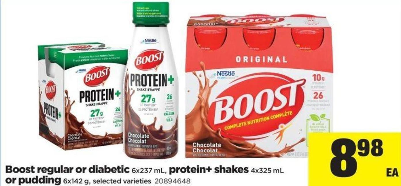 Boost Regular Or Diabetic 6x237 Ml - Protein+ Shakes 4x325 Ml Or Pudding 6x142 G