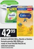 Enfamil Refill 942-992 G - Nestlé Or Similac Formula Powder - 900-1020 G Or Ready-to- Feed - 16x250/16x235 Ml