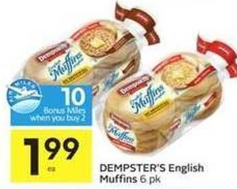 Dempster's English Muffins - 10 Air Miles Bonus Miles