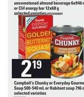 Campbell's Chunky Or Everyday Gourmet Soup - 500-540 Ml Or Habitant Soup - 796 Ml
