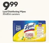 Lysol Disinfecting Wipes 30x80ct Canisters