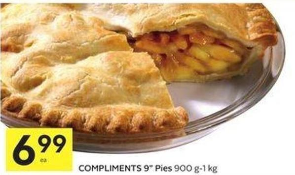 Compliments 9in Pies 900 G-1 Kg