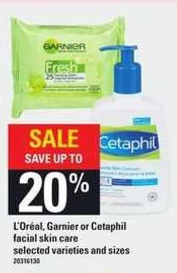 L'oréal - Garnier Or Cetaphil Facial Skin Care