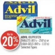 Advil Ibuprofen Tablets (85's - 250's) or Liqui-gels (80's - 115's)