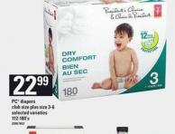 PC Diapers Club Size Plus Size 3-6 - 112-180's