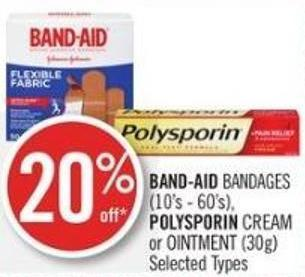 Band-aid Bandages (10's - 60's) - Polysporin Cream or Ointment (30g)