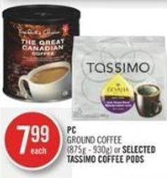 PC Ground Coffee (875g - 930g) or Selected Tassimo Coffee PODS