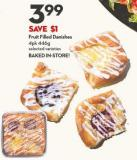 Fruit Filled Danishes 4pk 446g