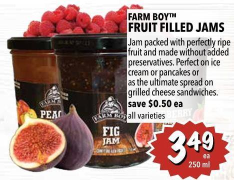 Farm Boy Fruit Filled Jams 250 ml