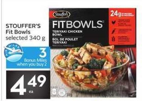 Stouffer's Fit Bowls - 3 Air Miles Bonus Miles