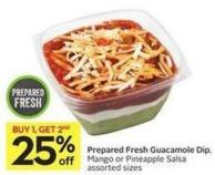 Prepared Fresh Guacamole Dip - Mango or Pineapple Salsa Assorted Sizes