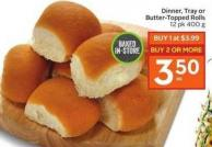 Dinner - Tray or Butter Topped Rolls 12 Pk 400 g