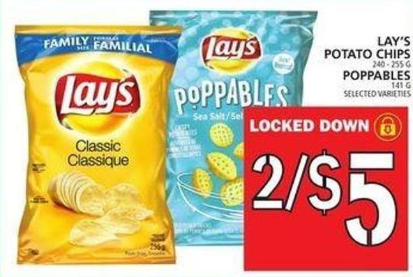 Lay's Potato Chips Or Poppables