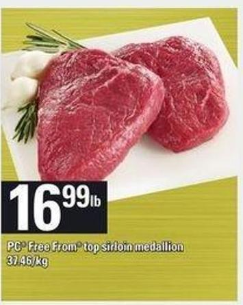 PC Free From Top Sirloin Medallion