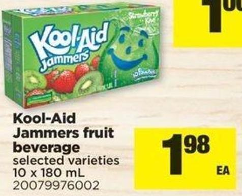 Kool-aid Jammers Fruit Beverage - 10 X 180 Ml
