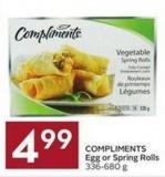 Compliments Egg or Spring Rolls