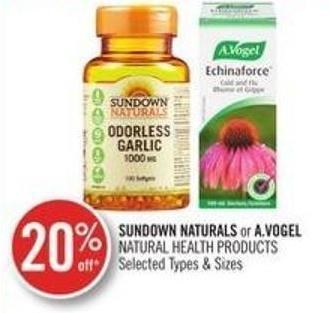 Sundown Naturals or A.vogel Natural Health Products
