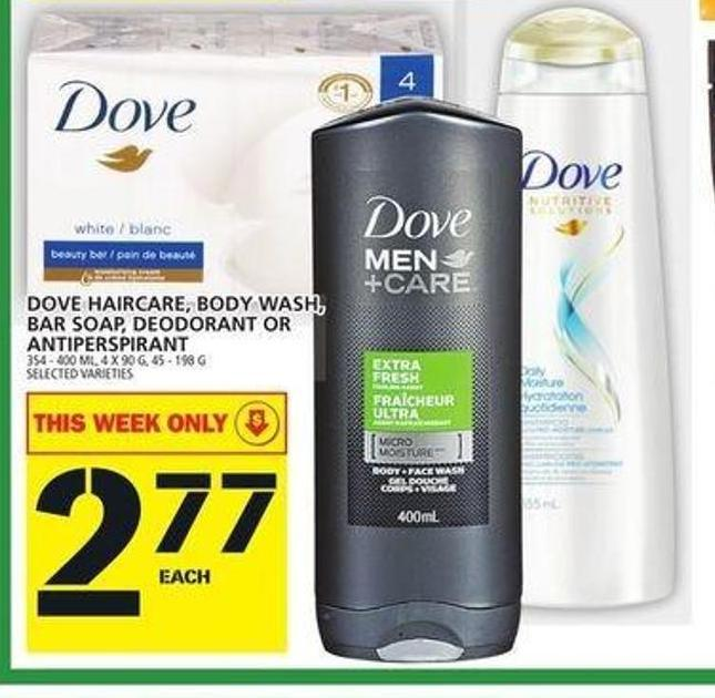 Dove Haircare - Body Wash - Bar Soap - Deodorant Or Antiperspirant