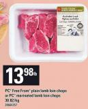 PC Free From Plain Lamb Loin Chops Or PC Marinated Lamb Loin Chops