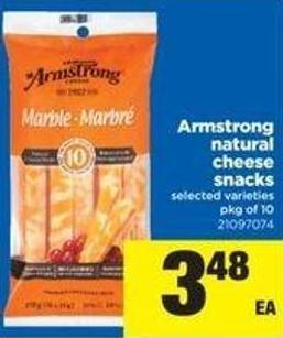 Armstrong Natural Cheese Snacks - Pkg of 10